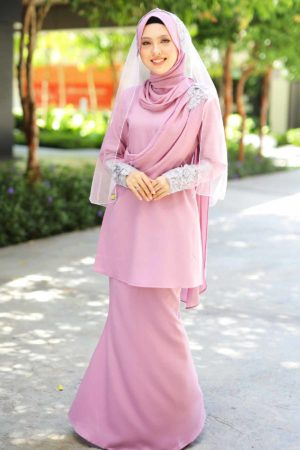 Kurung Seri Dusty Purple