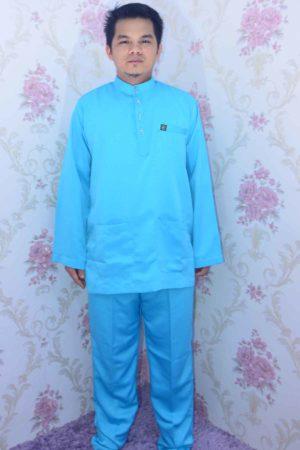 Baju Melayu Sakura Sky Blue