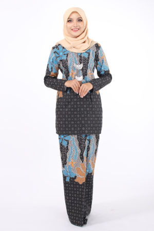 Kurung Batik Sofia Eksklusif Blue and Brown