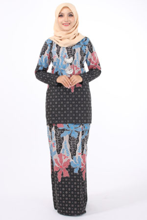 Kurung Batik Sofia Eksklusif Blue and Red