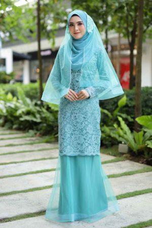 Kurung Deena Turquoise