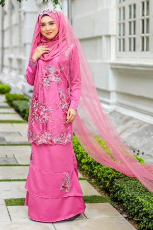 Kurung Zayyan Dusty Pink