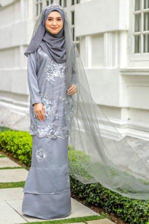 Kurung Zayyan Grey