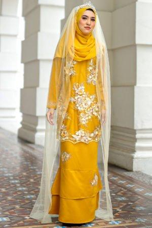 Kurung Zayyan Mustard