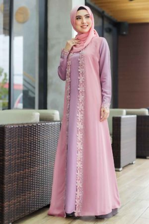 Jubah Atira Dusty Purple