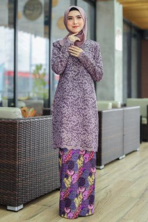 Kurung Farhana Purple