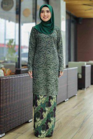 Kurung Farhana Emerald Green