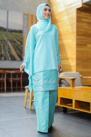 Kurung Songket Dahlia Mint Green
