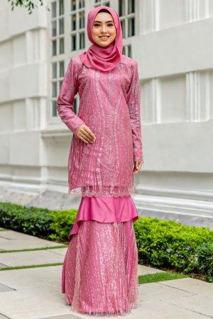 Kurung Natasya Dusty Pink