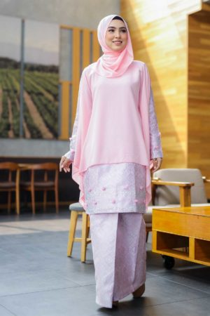 Kurung Songket Dahlia Light Pink