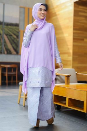 Kurung Songket Dahlia Purple