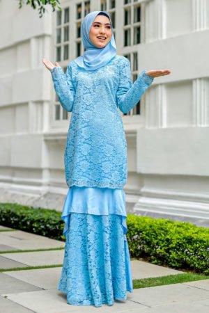 Kurung Qayra Baby Blue