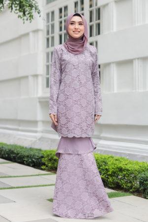 Kurung Qayra Dusty Purple