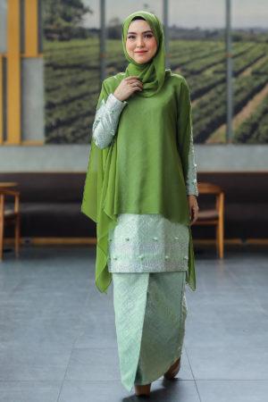 Kurung Songket Dahlia Green