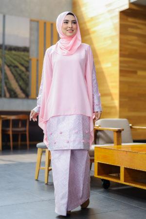 Kurung Songket Dahlia Light Pink