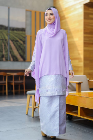 Kurung Songket Dahlia Purple