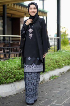 Kurung Sakeena Black