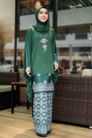 Kurung Sakeena Emerald Green