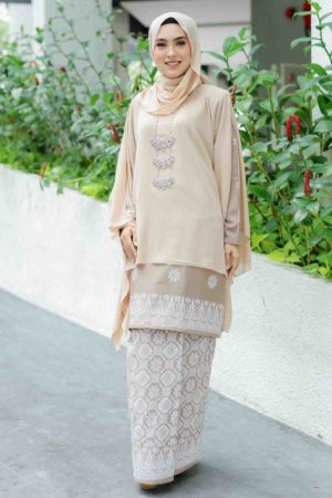 Kurung Permaisuri Soft Brown