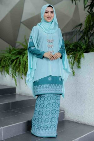 Kurung Permaisuri Teal Green