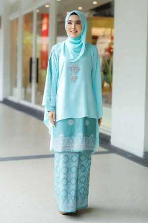 Kurung Permaisuri Mint Green