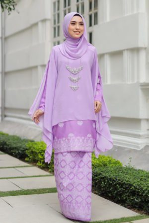 Kurung Sakeena Purple