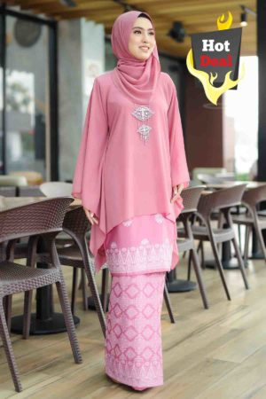 Kurung Permaisuri Dusty Pink