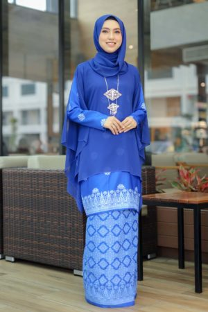 Kurung Permaisuri Royal Blue