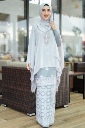 Kurung Permaisuri Grey
