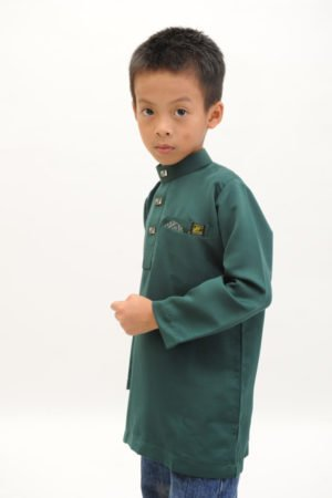 Kurta Abu Bakar Kids Emerald Green
