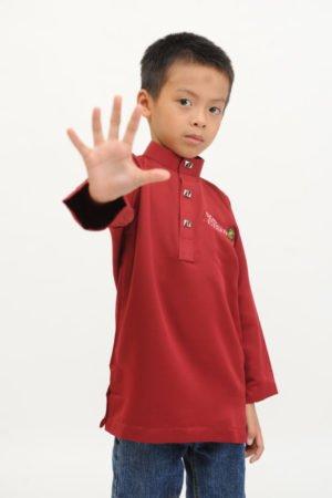 Kurta Abu Bakar Kids Maroon