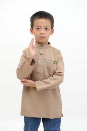 Kurta Abu Bakar Kids Mocha