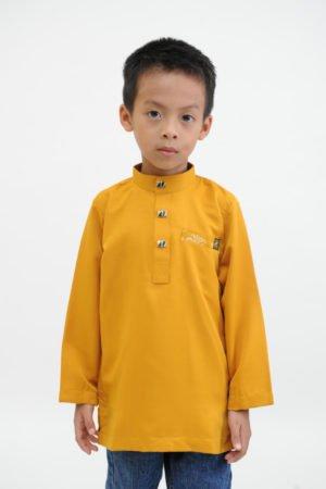 Kurta Abu Bakar Kids Mustard