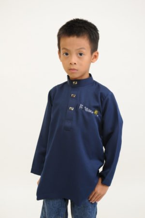 Kurta Abu Bakar Kids Navy Blue