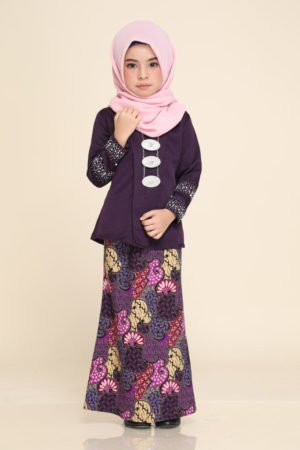 Kebaya Aisha Kids Dark Purple