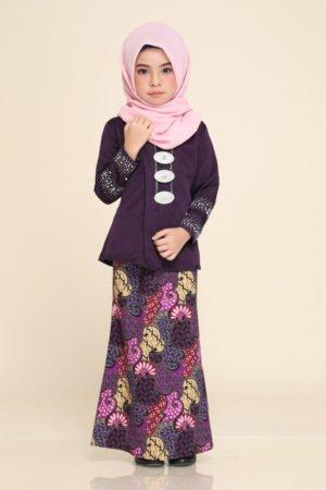 Kebaya Aisha Kids Dark Purple