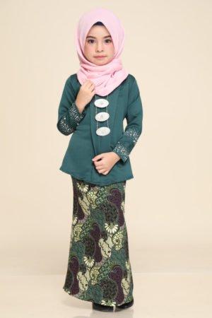 Kebaya Aisha Kids Emerald Green