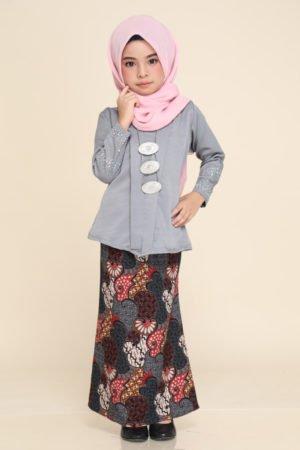 Kebaya Aisha Kids Grey