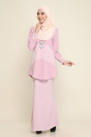 Kurung Ayris Dusty Pink