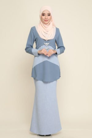 Kurung Ayris Grey