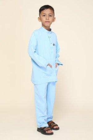 Baju Melayu Kids Baby Blue