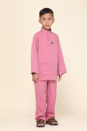 Baju Melayu Kids Dusty Pink