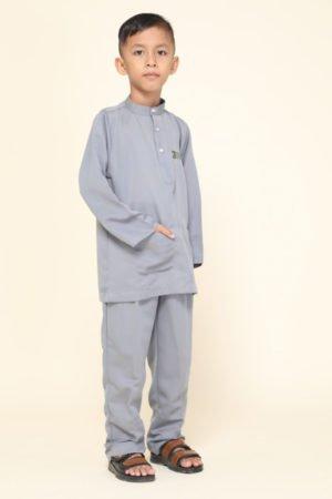Baju Melayu Kids Grey