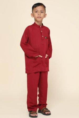 Baju Melayu Kids Maroon