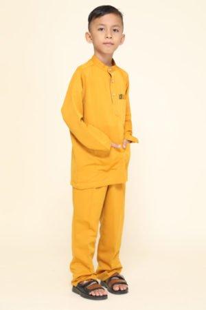 Baju Melayu Kids Mustard