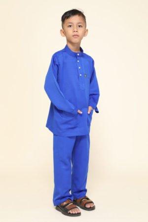 Baju Melayu Kids Royal Blue