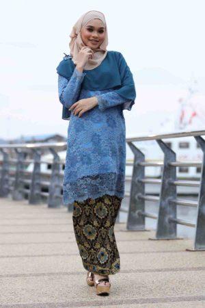 Kurung Fieya Blue