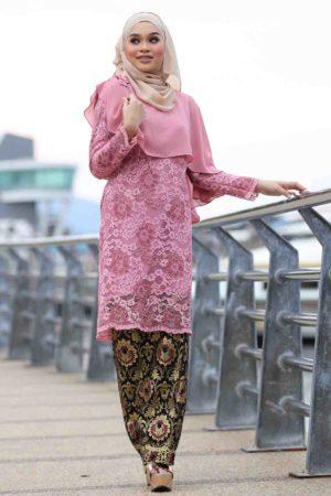 Kurung Fieya Dusty Pink