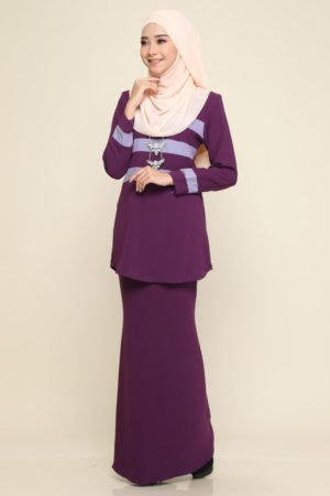 Kurung Sandra Purple