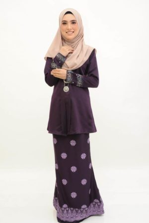 Kebaya Kain Songket Dark Purple